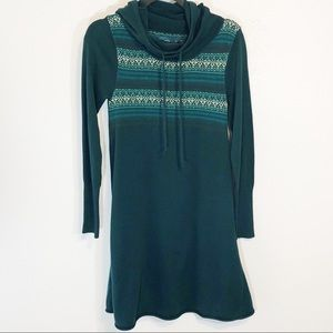 Prana Fair Isle hooded tunic dress size S